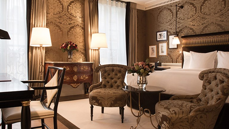 Fourteen rooms and 26 suites are available. // © 2015 La Reserve Paris Hotel and Spa