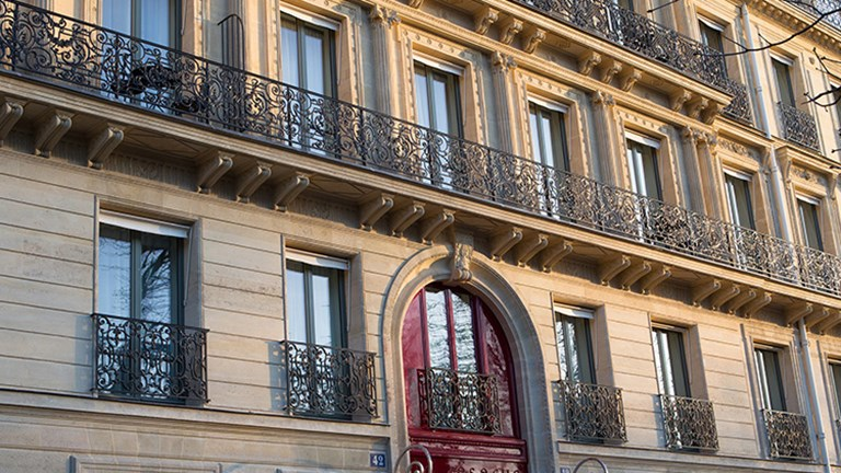 The hotel's building is a converted 19th-century mansion. // © 2015 La Reserve Paris Hotel and Spa