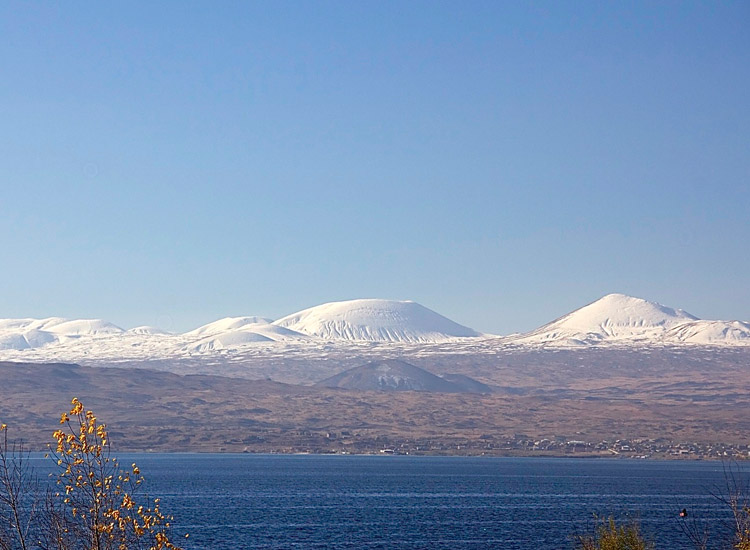 Lake Sevan is the largest lake in Armenia and one of the country's most popular sights. // © 2014 Devin Galaudet