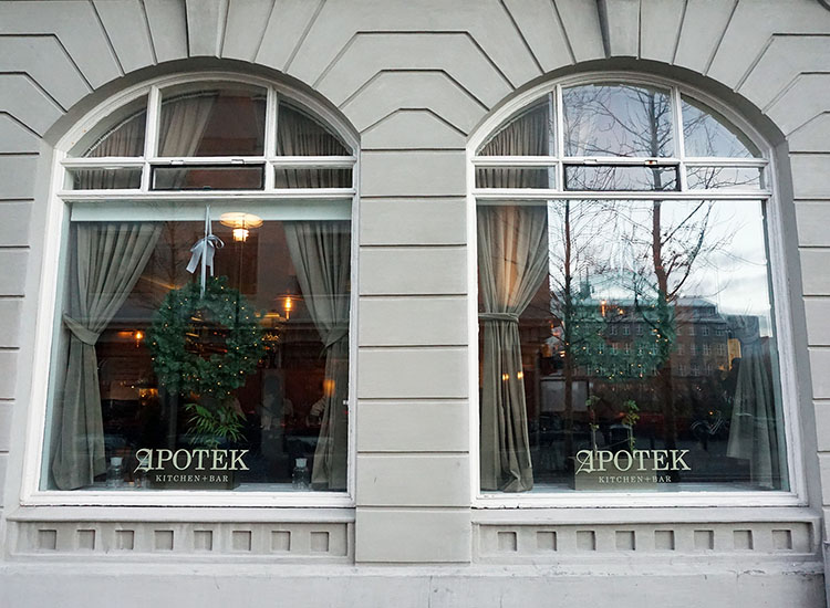 Fine-dining restaurant Apotek Kitchen + Bar was once a pharmacy. // © 2017 Valerie Chen