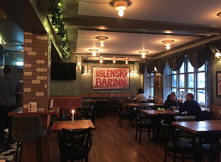 "Islenski Barinn (""Icelandic Bar"") is known for its craft beers and lamb soup. // © 2017 Valerie Chen"