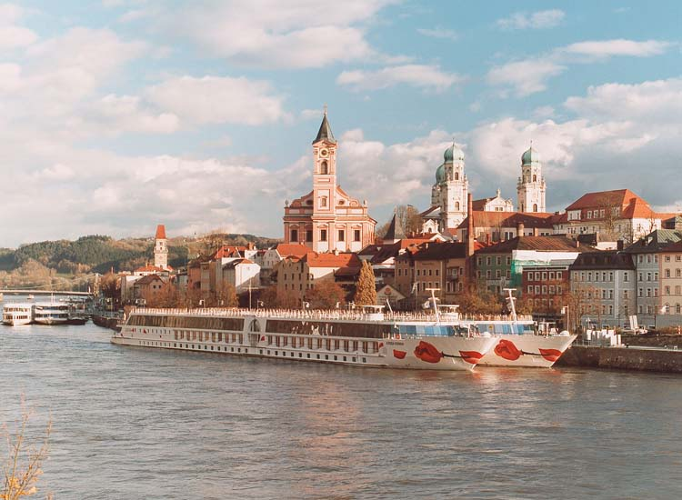 "Passau welcomed more than one million visitors in 2013, and some of them arrived via river cruise ship. Located on the crossing of the Danube, Inn and Ilz rivers, Passau is also known as ""The Three Rivers City."" // © 2014 Passau Tourist Association"