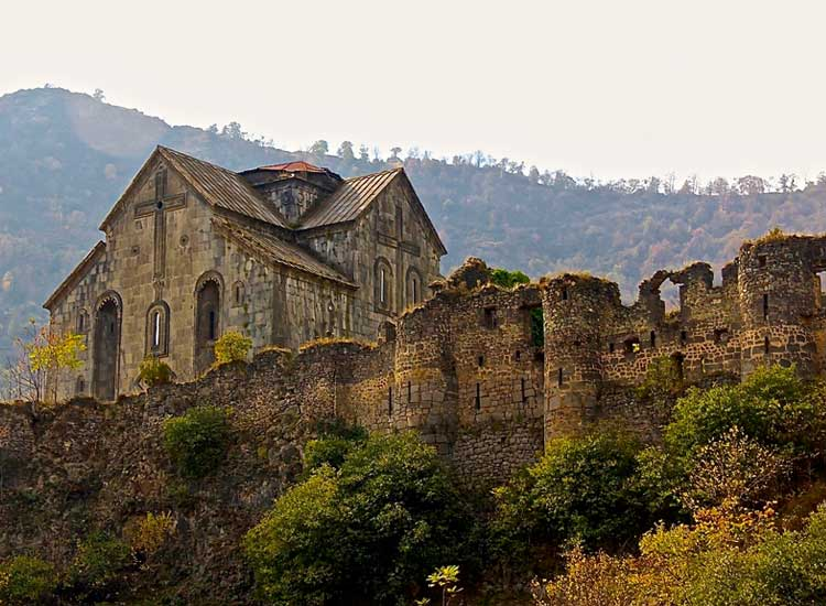Akhtala Monastery dates back to the 11th century and includes ruins, a church and original frescos. // (c) 2014 Devin Galaudet