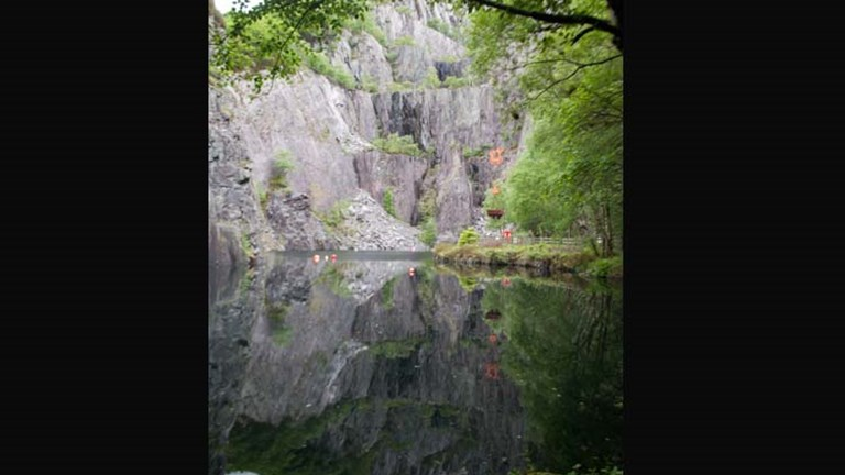 A quarry in Llanberis, Gwynedd, outside of the National Slate Museum // © 2014 Mindy Poder