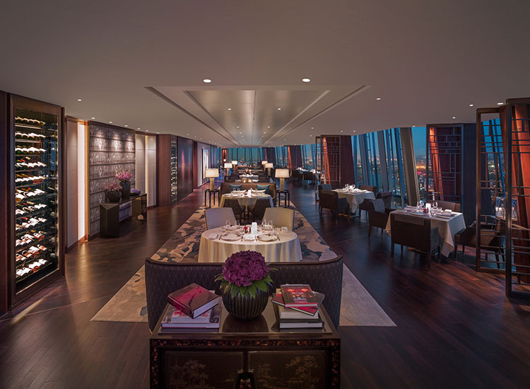 The hotel's signature restaurant, Ting, serves European cuisine with an Asian twist. // © 2017 Shangri-La Hotel, At The Shard, London