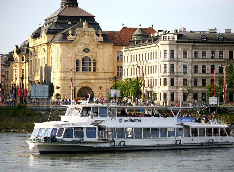 Over the centuries, commerce and conquerors traveled along the Danube, but today the river brings cruise visitors by the thousands to Bratislava. // © 2014 Courtesy Bratislava Tourist Board