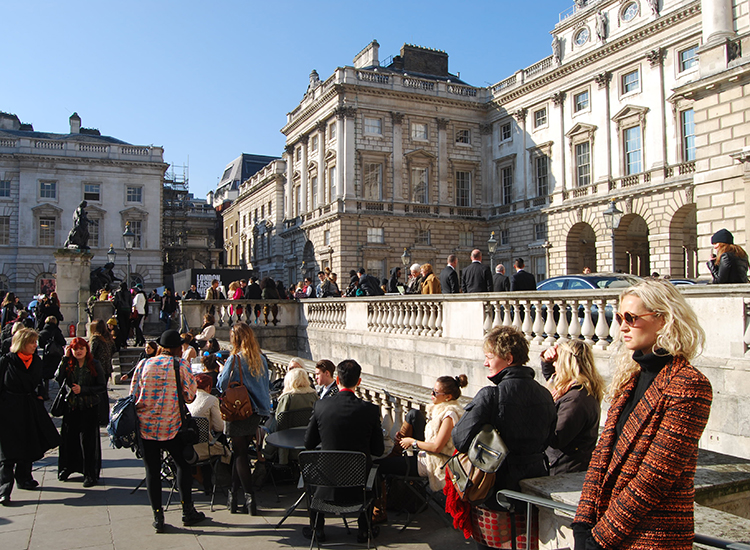 Somerset House is one of the sites of London Fashion Week. // © 2015 Melissa Karlin