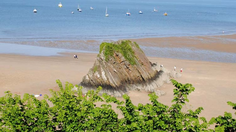 Located on the Pembrokeshire Coast Path, the tourist town of Tenby features 2.5 miles of beach. // © 2014 Mindy Poder