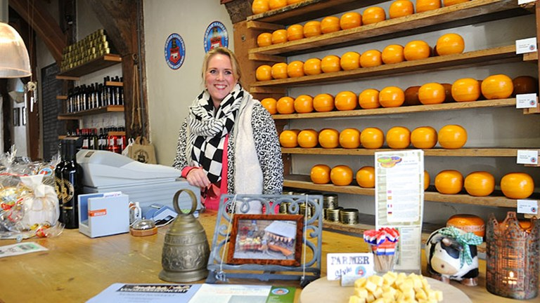 Clients on Toms Travel Tours' Holland Countryside Excursion get to try a variety of cheeses. // © 2016 Toms Travel Tours