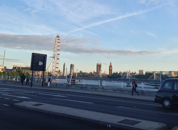 See London in every direction from the Waterloo Bridge. // © 2015 Melissa Karlin