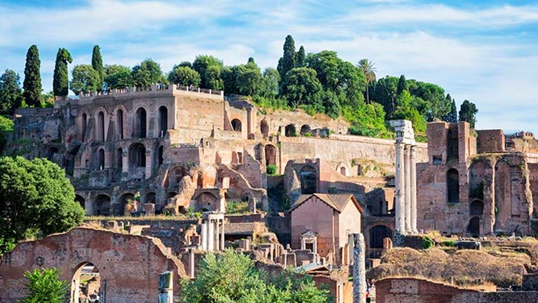 Palatine Hill is about 131 feet high and is located in the most ancient area of the city. // © 2017 iStock