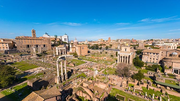 The same standard admission ticket covers Palatine Hill, the Colosseum and the Roman Forum. // © 2017 iStock
