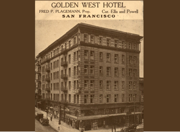 Today known as the Hotel Union Square, the Golden West Hotel was built to house people attending San Francisco's World's Fair. // © Hotel Union Square