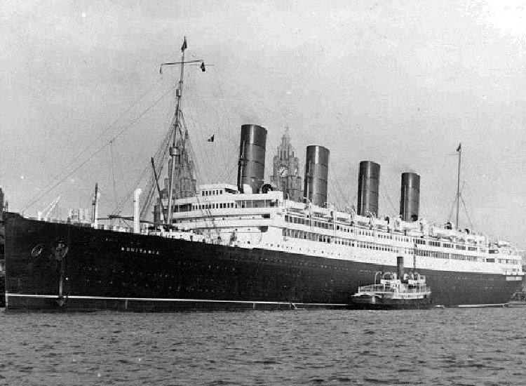 On May 30, 1914, Cunard Line's Aquitania, considered one of the most beautiful ocean liners ever built, sailed her maiden voyage. // © Cunard Line