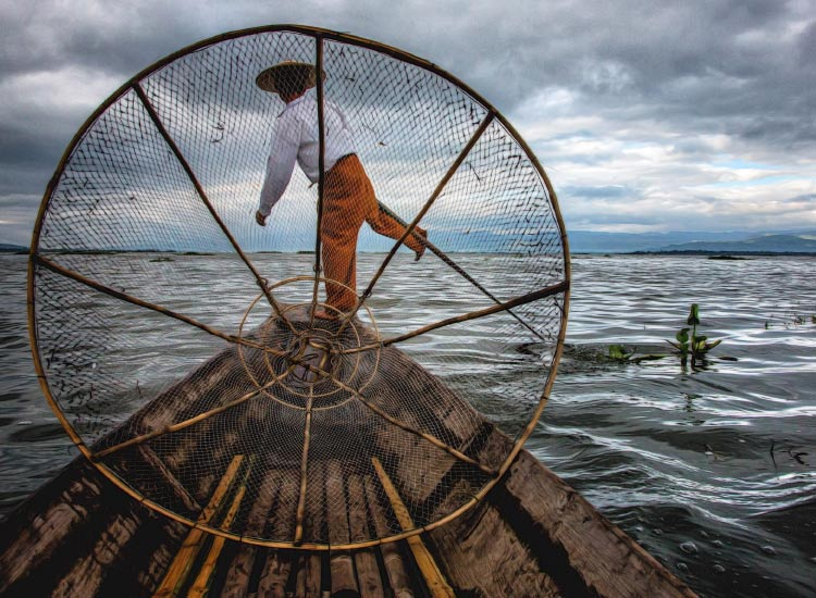 Fisherman in Myanmar, Honorable Mention, 2015 TravelAge West reader photo contest // © 2015 Marcia Dillon