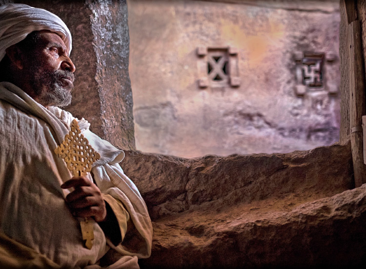 Priest in Lalibela, Ethiopia, Honorable Mention, 2016 TravelAge West reader photo contest // © 2016 Marcia Dillon