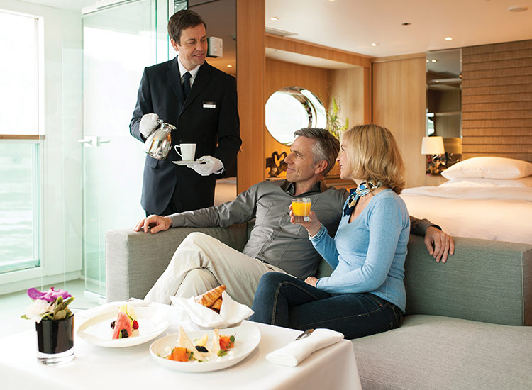 There are a plethora of luxury travel experiences for all types of clients, such as butler service on Scenic sailings. // © 2017 Scenic Luxury Cruises & Tours