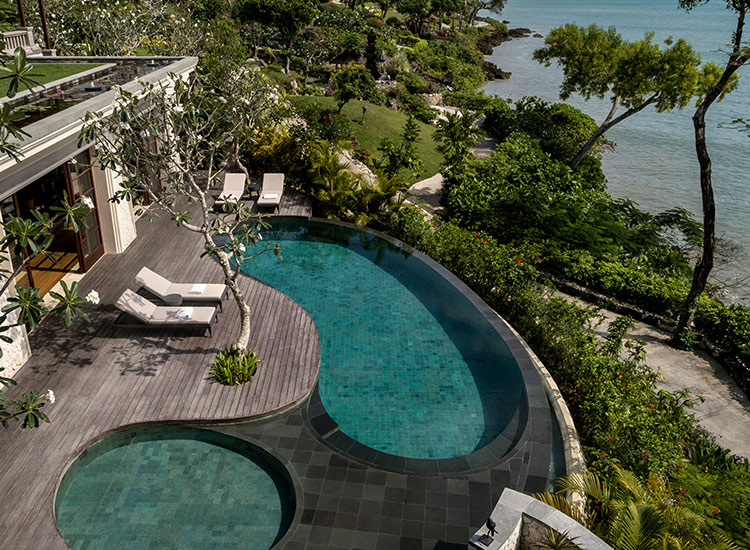 Those looking for tranquility and ample amenities will love the new 14,000-square-foot Imperial Villa at Four Seasons Resort Bali at Jimbaran Bay. // © 2017 Four Seasons Resort Bali at Jimbaran Bay