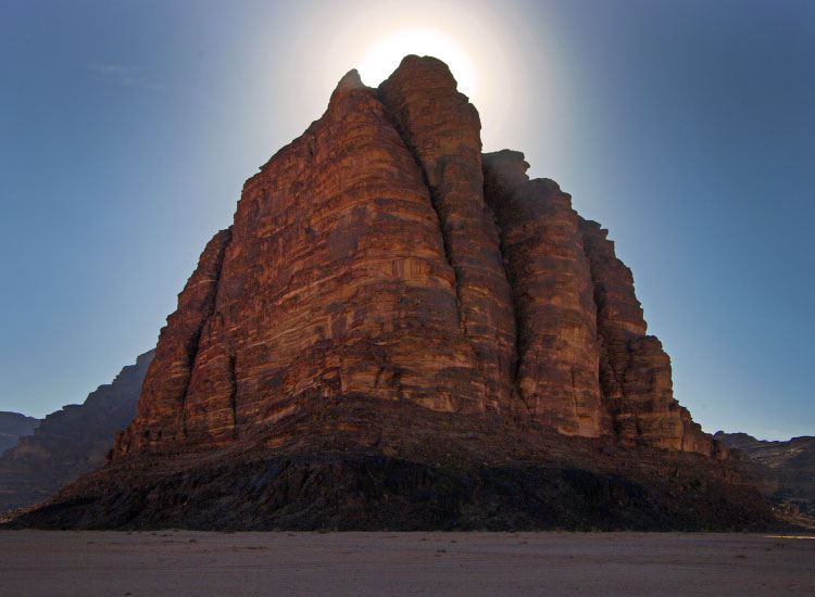 Seven Pillars of Wisdom mountain in Wadi Rum, Jordan, 2013 TravelAge West reader photo contest  // © 2013 Craig Headman
