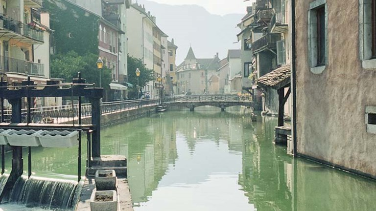 Annecy is known for its alpine views, waterways and old-French charm. // © 2015 Creative Commons user christophercrouzet