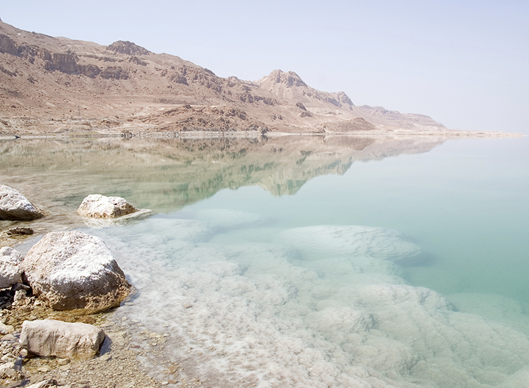 The Dead Sea in Israel and Jordan is the lowest point of the Earth's surface. // © 2015 iStock