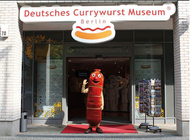 More often than not, food museums highlight the dishes popular within its region, such as this German museum that showcases currywurst (one of the country's favorite foods). // © 2017 Deutsches Currywurst Museum Berlin
