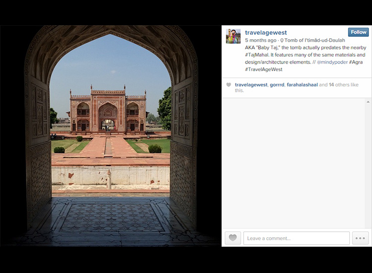 Executive Editor Mindy Poder labeled the location of her photo, Tomb of Itimad-ud-Daulah, which enables Instagram users to view other photos from the same place. // © 2015 Mindy Poder