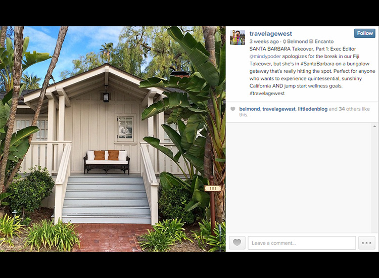 In her Instagram's caption, Poder gave helpful insight into Belmond El Encanto, explaining who would be interested in staying at the pictured resort. // © 2015 Mindy Poder