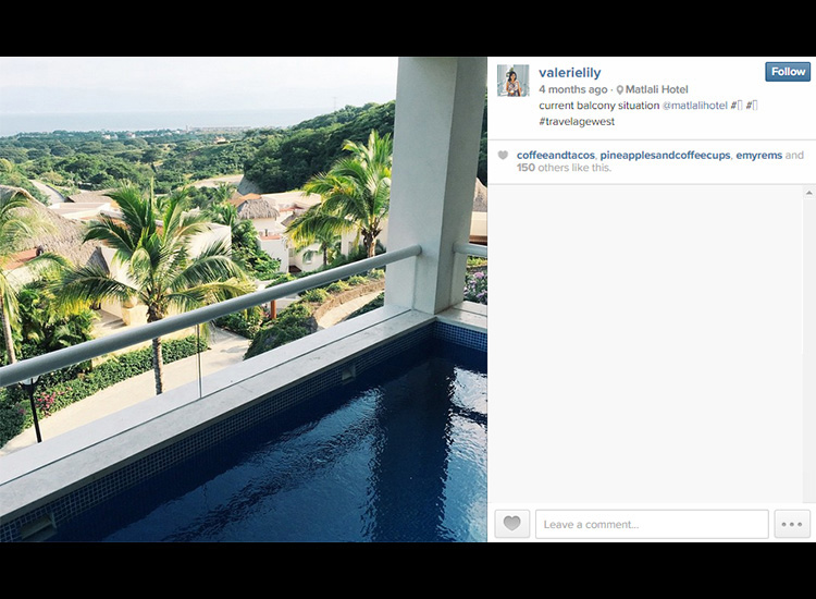 When Associate Editor Valerie Chen shared an Instagram of her accommodations, she tagged the resort's Instagram handle in her caption. // © 2015 Valerie Chen