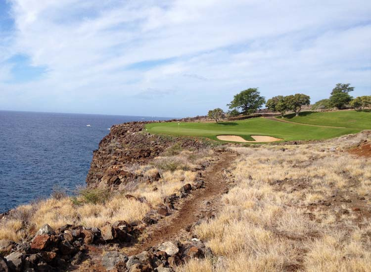The Challenge at Manele golf course on Lanai is one of two championship courses on the island. // © 2014 Kenneth Shapiro