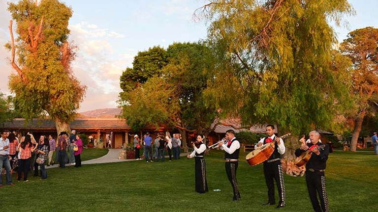 Attendees were greeted by an authentic mariachi band at Tanque Verde Ranch Resort. // © 2015 J. Martin Harris Travel & Leisure Photography