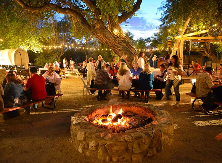 "During this year's Global Travel Marketplace West (GTM West) opening reception at Tanque Verde Ranch Resort, sponsored by Visit Tucson, travel agents and suppliers gathered together for a traditional ""dude ranch"" experience in Tucson.  // © 2015 J. Martin Harris Travel & Leisure Photography"