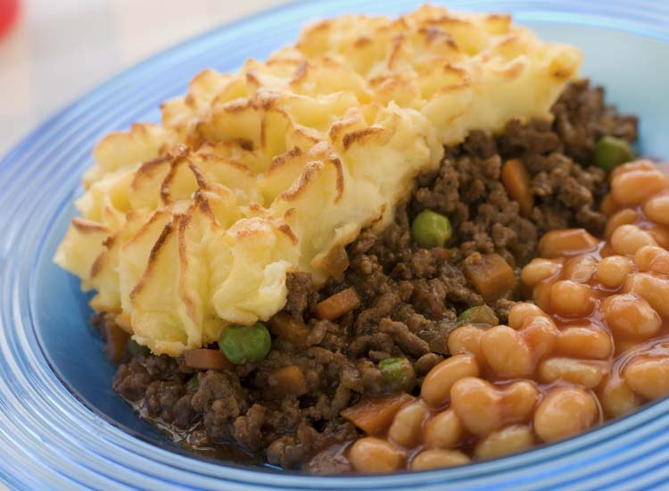 Shepherd's pie was originally called cottage pie, as it was eaten by the working class in their modest homes. // © 2014 Thinkstock