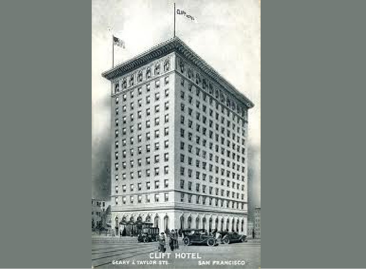 The Clift Hotel was commissioned to accommodate visitors to San Francisco's 1915 World's Fair // (c) The Clift Hotel