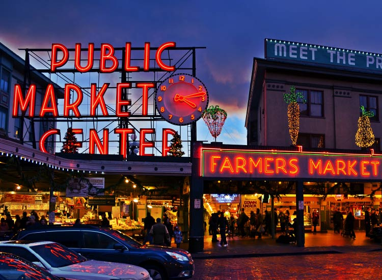 A visit to Seattle is not complete without a stop at Pike Place Market. // © 2015 Mtaylor444