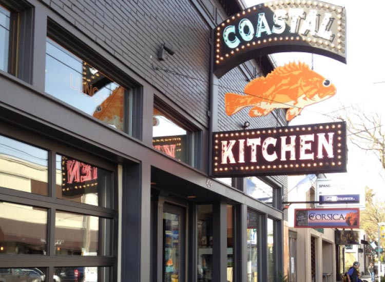 Coastal Kitchen is a quintessential neighborhood fish house. // © 2015 Jeremy Hardy