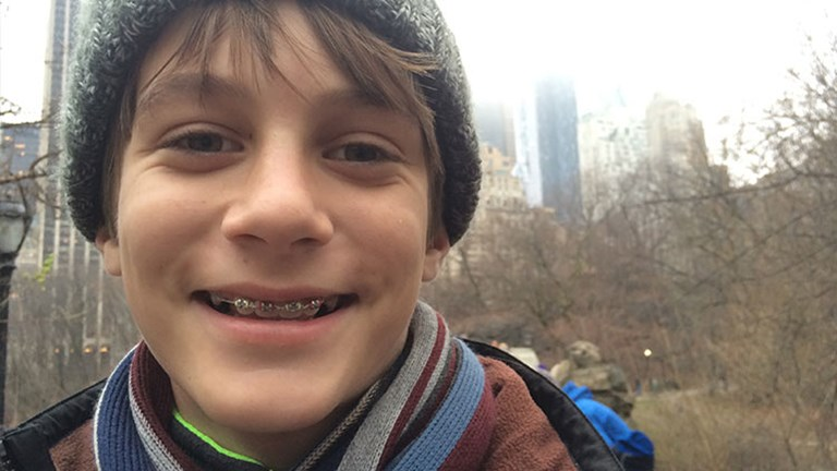 Twelve-year-old Aden Smith loved the Big Apple's skyscrapers, Broadway shows and outdoor spaces. // © 2016 Abby Smith