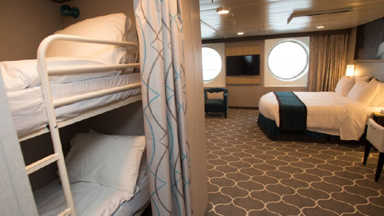 A Family Oceanview room on Harmony of the Seas // © 2017 Celebrity Cruises
