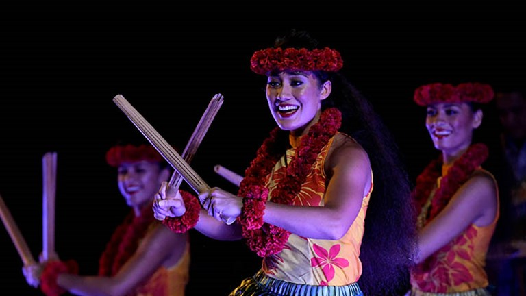 Ka Waa, the new luau from Aulani, a Disney Resort & Spa, tells the story of Hawaiian history and culture through music and dance. // © 2017 GentryDisney Destinations