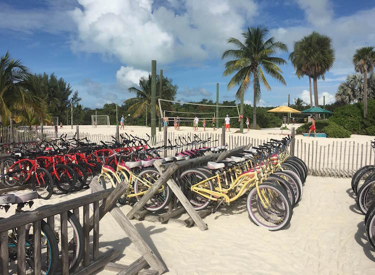 Paths connecting Castaway Cay's multiple beaches are great for biking. // © 2016 Chelsee Lowe
