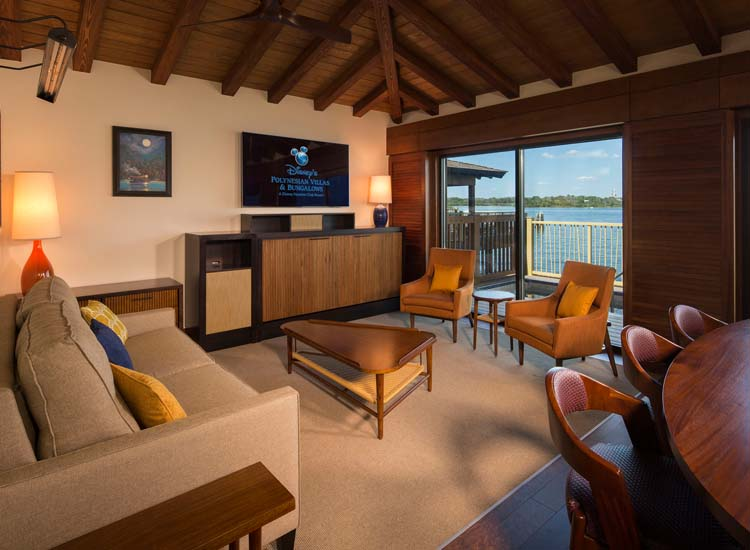 Inside the spacious bungalows, guests will find two bedrooms, two bathrooms and a full kitchen. // © 2015 Walt Disney World Resort