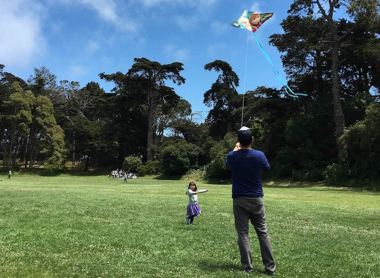 Numerous lawns make great spaces for kite flying. // © 2016 Chelsee Lowe