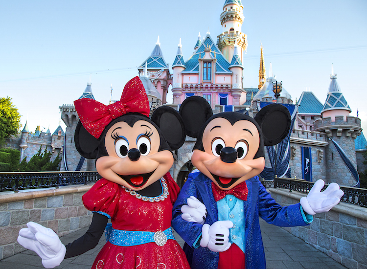In honor of Disneyland's 60th birthday, Mickey and Minnie Mouse will sport dazzling new costumes as of May 22. // © 2015 Paul Hiffmeyer/Disneyland Resort