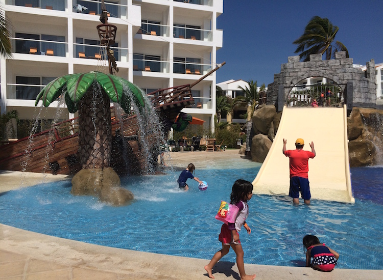 Recent renovations added a children's water park to Marival Resort & Suites Nuevo Vallarta. // © 2015 Chelsee Lowe