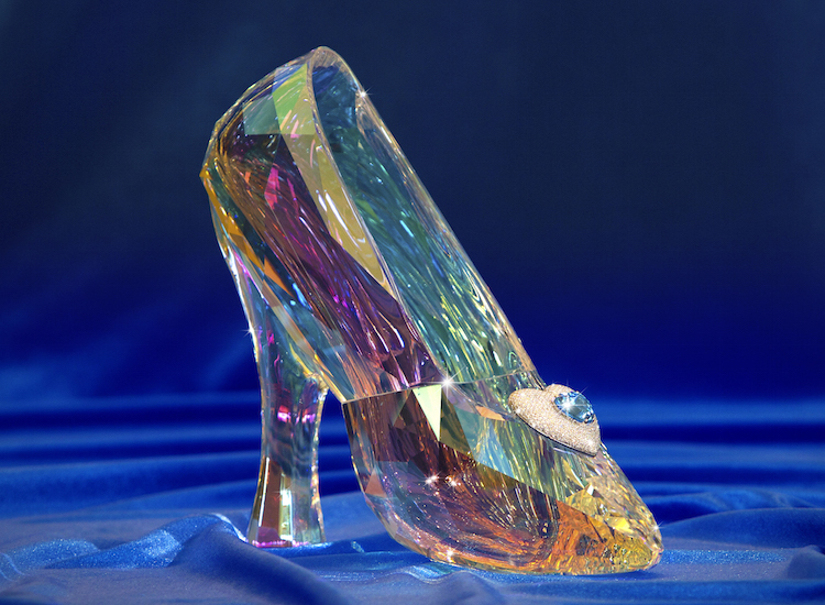 A jeweled crystal Cinderella slipper is one of many prizes for the Disneyland Diamond Days sweepstakes. // © 2015 Disneyland Resort