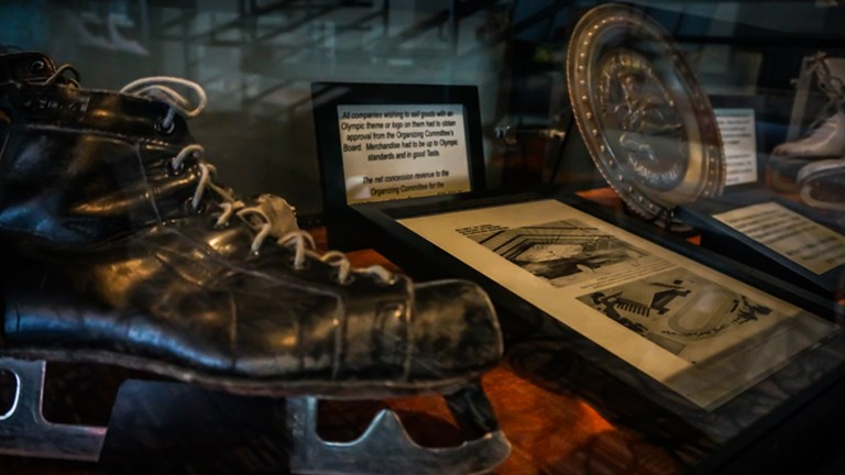 Squaw Valley Resort hosted the 1960 Winter Olympic Games, and this one-room museum showcases memorabilia from the event. // © 2015 Squaw Valley