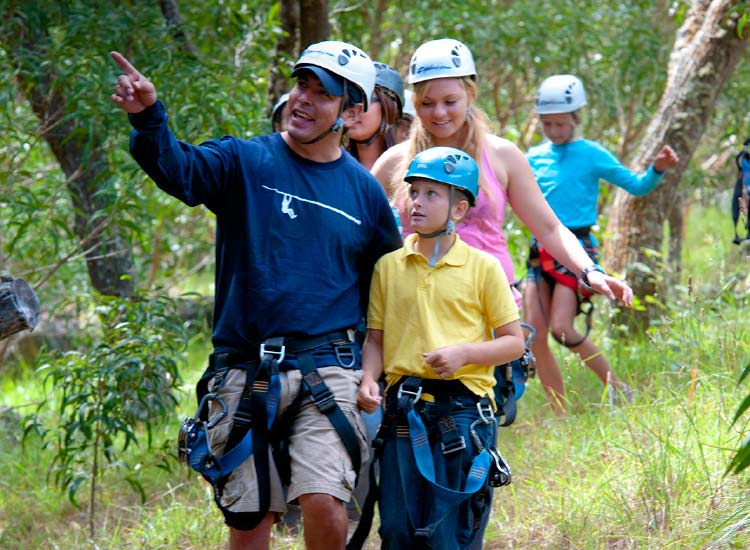 Families make memories while hiking and ziplining in Hawaii. // © 2014 Skyline Eco-Adventures