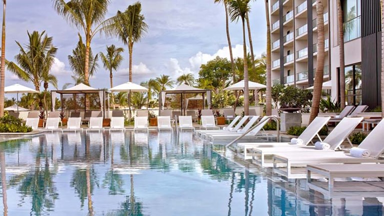 Leave the kids at the family pool and head over to one of Hawaii's adults-only pools for special amenities and services. // © 2014 Andaz Maui