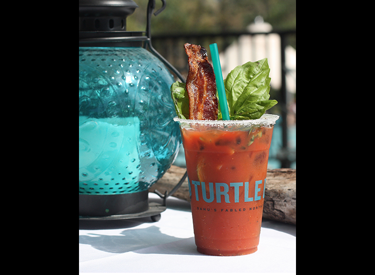 Bacon Basil Bloody Mary from Turtle Bay Resort (Oahu) // © 2015 Turtle Bay Resort