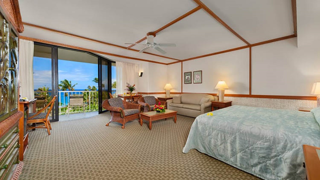 "The 432-guestroom Kaanapali Beach Hotel (KBH) has long been recognized as the ""Most Hawaiian Hotel;"" pictured is a junior suite. // © 2018 Kaanapali Beach Hotel"